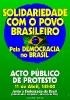 Solidariedade com o povo brasileiro Pela democracia no Brasil_2